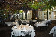 The Court of Two Sisters restaurant courtyard, New Orleans, Louisiana, USA