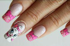 Disney Nails, Cute Nails, Nail Designs, Nail Art, Aristocats, Ideas Para, Beauty, Work Nails, Stickers