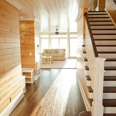 Knotty Pine With White Trim Design Ideas, Pictures, Remodel, and Decor - page 9