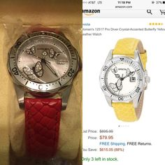 Invicta Womens pro-diver watch Beautiful red/orange color, comes in box with tags and certification Invicta Accessories Watches