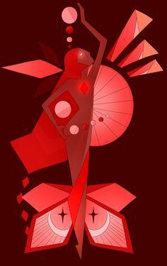 Red Diamond Mural by Seopai.deviantart.com on @DeviantArt
