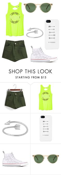 """green"" by angela229 ❤ liked on Polyvore featuring Converse and Oliver Peoples"