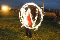 My friend @andrea_r made the WordPress logo with a sparkler and slow shutter this weekend. Love it! Go #WordPress!