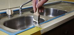 How to paint a laminate benchtop