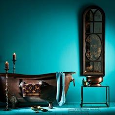 heather nette king: the copper bathroom. Wet Rooms, Farmhouse Decor, Copper House, Copper Tub, Wall Colors, Bathroom Renovations, Copper Bathroom, Mermaid Bathroom, Beautiful Bathrooms