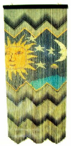 Beaded Curtains: Hand Strung: Celestial Pattern by Beaded Curtain