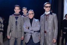 "c/o Houston Chronicle: ""Hilfiger channeled the spirit of Tommy Nutter, The Beatles go-to tailor, by blowing out plaids and argyles with rock and roll fun and fury"" #tommyfall13 #nyfw #menswear"