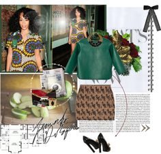 """Solange Inspired ♥"" by naturally-jolie ❤ liked on Polyvore"
