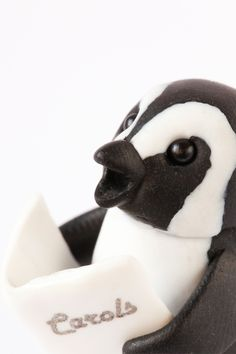 This miniature African penguin is super cheery at this time of year and is ready for you and your perfect Christmas. Happy Penguin, African Penguin, Unique Presents, Pet Gifts, Pet Portraits, Penguins, Sculpting, Delicate, Miniatures