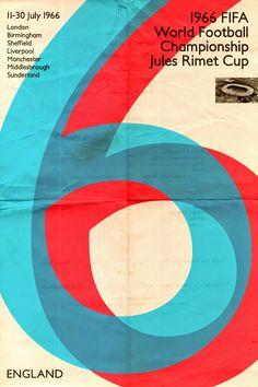 Poster mundial de fútbol. #Inglaterra 1966 #FIFA #Mundial #Fútbol #Diseño http://creativittaagencia.blogspot.com/2014/07/posters-world-cup-1930-2014.html