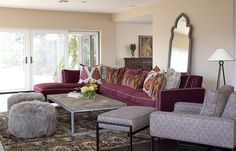 interior styling of living room, family room and master
