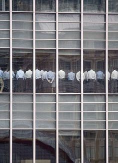 Lehman Brothers staff awaiting news of their fate after 2008 crash