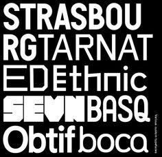 Various custom typeface designs. © Studio Sarp Sozdinler