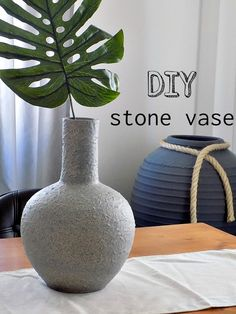 How to make a stone flower vase by Art Decoration and Crafting