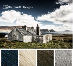 Happy St. Patrick's Day! Irish Cottage by the Sea Yarn Color Palette: Loden Blue, White, Walnut, Silver Mist.