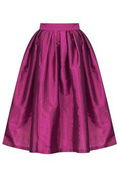 Tafetta Midi Skirt