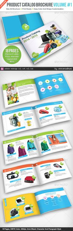 Product Catalogs Brochure | Volume 1 #GraphicRiver Product Catalogs Brochure | Volume 1 Specs : adobe indesign cs3, cs4, cs5, cs6 Format indd Resolution 300 dpi Size A5 plus 3mm Bleed Color CMYK Photo not included on download files Fonts : Arial : Standard Font Nexa Free Font: .fontfabric /nexa-free-font/ Created: 17July13 GraphicsFilesIncluded: InDesignINDD Layered: Yes MinimumAdobeCSVersion: CS3 PrintDimensions: 8.2x5.8 Tags: advertising #booklet #brochure #catalog #catalogs #clean…