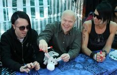 Dan Heide, Noralf Ronthi, and Alex Møklebust, 2007 Zeromancer signing session