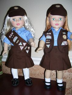 18 in Doll Brownie Girls Scout Outfit by dressupdollie on Etsy, $21.00