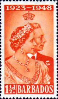 Stamps Barbados 1948 King George VI Royal Silver Wedding Set Fine Mint SG 265 6 Scott 210 11 For Sale Take a Look!