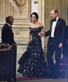 """""""The Duke & Duchess of Cambridge departing @RoyalAlbertHall after the #BAFTAs"""""""