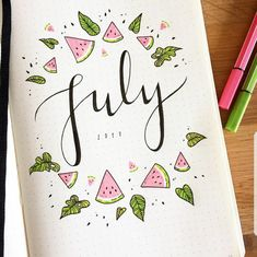 Monthly Bullet Journal Themes {Pick a different theme for every month of the year!} Monthly Bullet Journal Themes {Pick a different theme for every month of the year! Bullet Journal Cover Page, Bullet Journal 2019, Bullet Journal Spread, Bullet Journal Inspo, Bullet Journal Layout, Journal Covers, Journal Pages, Journal Ideas, Bullet Journal Numbers