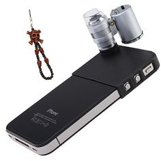 OKEBA 60x LED Pocket Microscope Lens Camera Lens Adjustable Loupe with LED Light For iPhone 4/4S(60X Magnification, 2 LEDs, 1 UV Light), Ideal for Jewelry Coins Stamps Antiques + One Cool Skull Key Chain Charm Strap At Random Color - http://allgoodies.net/okeba-60x-led-pocket-microscope-lens-camera-lens-adjustable-loupe-with-led-light-for-iphone-44s60x-magnification-2-leds-1-uv-light-ideal-for-jewelry-coins-stamps-antiques-one-cool-skull-key-ch/