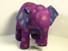 Indian Elephant: Handmade by fair trade artisans. #Elephant #Toy #Plushie #Fair_Trade