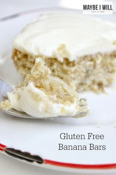 Gluten Free Banana Cake with Sugar Free Cream Cheese Frosting... OMG this stuff is the bomb.com!!!