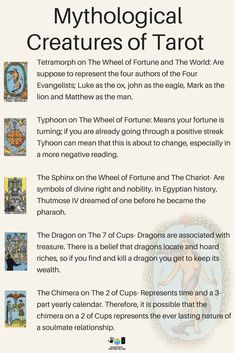 The mythological symbolism meanings of Tarot cards for beginners! If you're just learning how to read Tarot or practice divination and fortune telling, then learning the interpretations of signs and symbols is a good place to spend your time! Rider Waite Tarot Cards, Tarot Cards For Beginners, Tarot Card Spreads, Tarot Astrology, Tarot Card Meanings, Tarot Card Decks, Tarot Readers, Fortune Telling, Card Reading