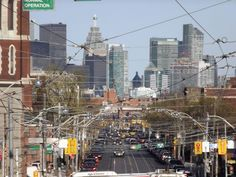 downtown Toronto - viewed from Dundas West.  my old stompin' grounds.  miss you T-dot & friends!
