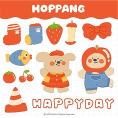 Kpop Stickers, Stickers Kawaii, Korean Stickers, Printable Stickers, Cute Stickers, Journal Stickers, Planner Stickers, Scrapbooking Stickers, Cute Cartoon Wallpapers