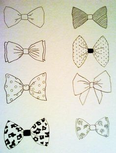 bow-tie drawings.