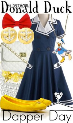 Dapper Day Donald Duck by DisneyBound .