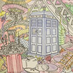 """Gefällt 20 Mal, 3 Kommentare - Doctor Who Colouring Book (@doctorwhocolouringbook) auf Instagram: """"""""You'll dream about that box. It'll never leave you. Big and little at the same time. Brand new and…"""""""