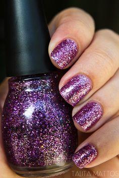 safe to say I'm addicted. :) Sinful glitter nail polish.