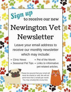 Sign up for our new monthly newsletter!