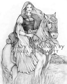LADY OF ROHAN Art Print  Lord of the Rings Middle Earth by SaraWen