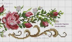 This Pin was discovered by Nel Cross Stitch Pillow, Cross Stitch Borders, Cross Stitch Rose, Cross Stitch Flowers, Cross Stitching, Cross Stitch Embroidery, Cross Stitch Patterns, Quilt Patterns, Baby Dress Patterns