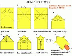 origami jumping frog instructions