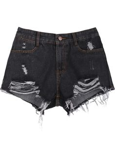 Shorts denim bolsillos-Negro EUR€15.22