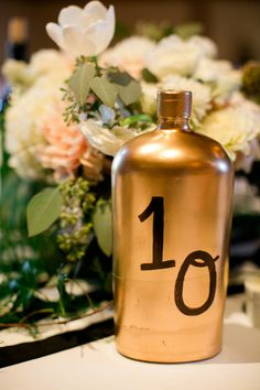 #table-numbers  Photography: Jessica Burke - jessicaburke.com  Read More: http://www.stylemepretty.com/2014/01/07/classic-charles-krug-winery-wedding/