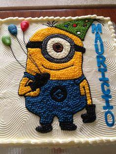 Preciosa tarta para fiesta temática Minions. #tarta #Minions