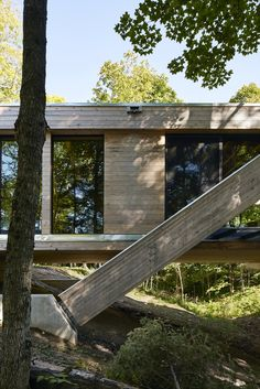 Dwell - A Unique Home in the Canadian Forest That Doubles As a Bridge