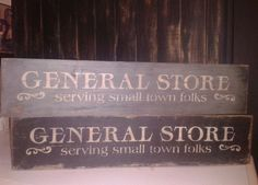 Primitive General Store Distressed Country Wood Sign | eBay