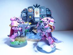 Pink Space marines and Dreadnought