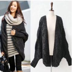 🎉HP 10/30/15🎉Dark Gray loose batwing cardigan New, fits xs to xl Jackets & Coats