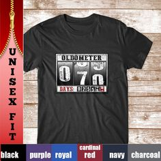 70th Birthday Shirt. Funny Oldometer Shirt for 70th Birthday Gift. by WowTeez on Etsy