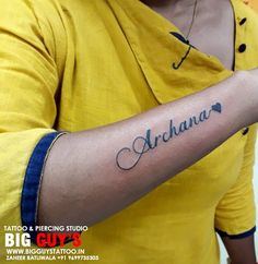 Get your Name Calligraphic Tattoo on Your Hand Only at Big Guys Tattoo Studio. Contact -: Zaheer –  9699735303            Nadeem – 9029993269 www.Mumbaitattoo.com #Tattoo #NameCalligraphictattoo #Bigguystattoostudio  #mumbaitattoosupply