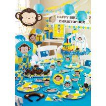 Mod Monkey birthday. This is the theme we went with for his 1st birthday party!